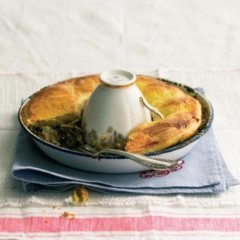 Home-made guinea fowl and Morogo pie