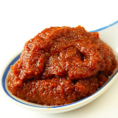 Home-made red curry paste