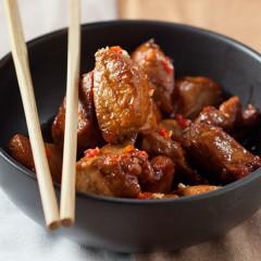 Honey and garlic pork