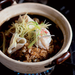 Japanese seafood rice pot