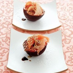 Japanese sushi-style plums
