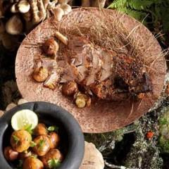 Kalahari truffles with parsley and lemon butter