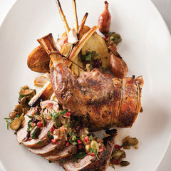 Karoo lamb with shallot, anchovy and pomegranate dressing