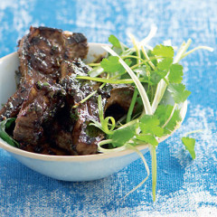 Lamb chops in sticky tamarind