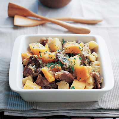 Lamb, pumpkin and sweet-potato braise