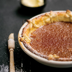 Lemon-and-ginger treacle tart