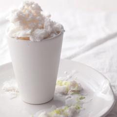 Lime-and-coconut milk granita