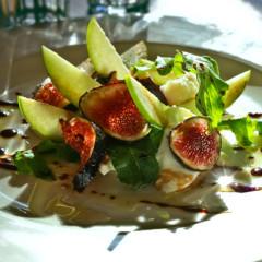 Marinated Buffalo mozzarella and fig salad