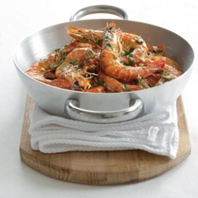 Marinated roasted prawns