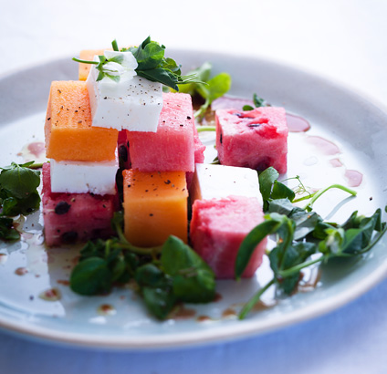 Melon, feta and watercress salad | Woolworths TASTE