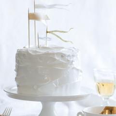 Meringue almond chiffon cake