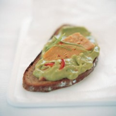 Mexican cheese sandwich with banana guacamole