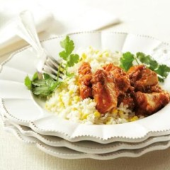Mexican spiced fish with fresh corn rice