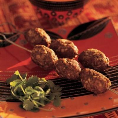 Minced lamb kebabs