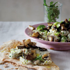 Minted brinjal and Labneh creamy mash