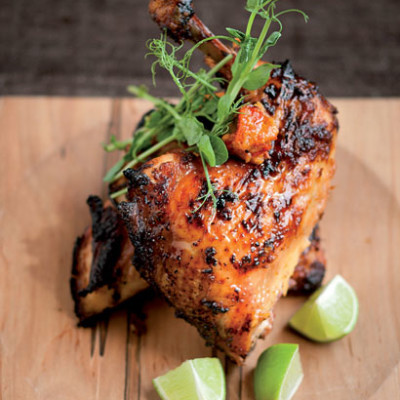 Miso-marinated barbeque Hawaiian chicken