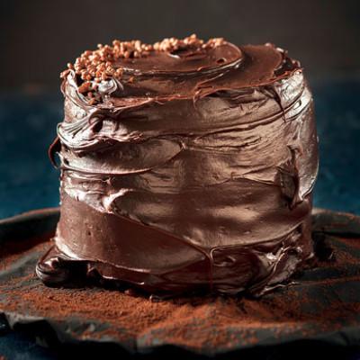Watch: triple-chocolate layer cake