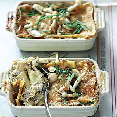 Mushroom lasagne bianco