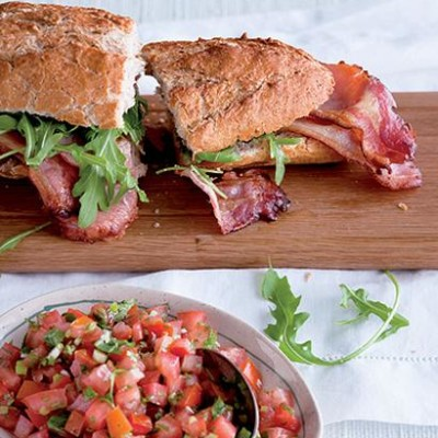 New-style BLT sandwich