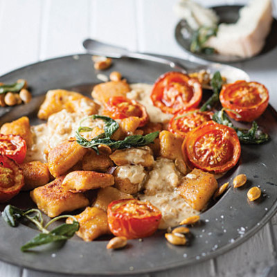 Nutmeg and pumpkin gnocchi with Gorgonzola cream ...