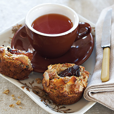 Oat, date and coconut muffins