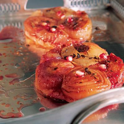Onion and fig tarte tatin