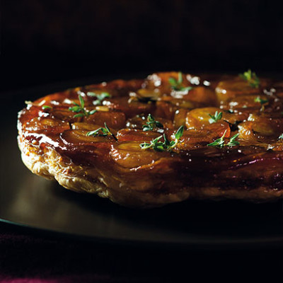 Onion tarte tatin