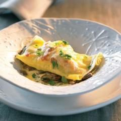 Open mushroom lasagne