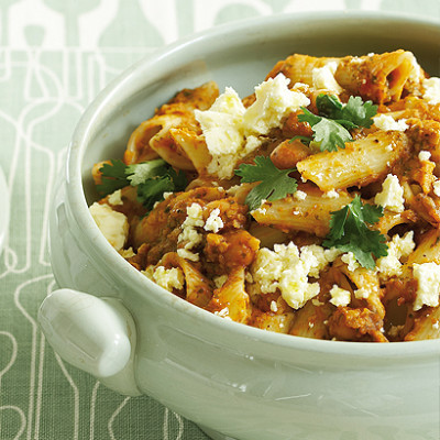 Organic chickpea and coriander pasta