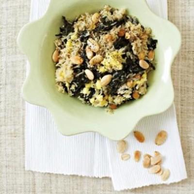 Organic swiss chard, chickpea and feta pilau