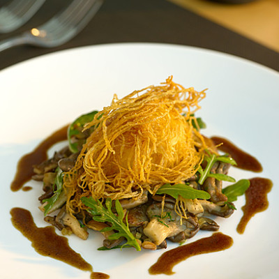Oyster Mushroom and Crispy Egg