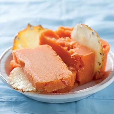 Papaya and pineapple sorbet