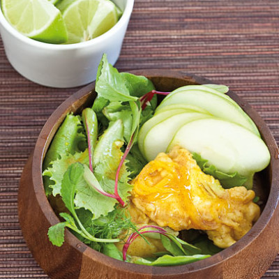 Pickled fish with lime salad