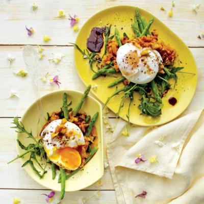 Poached egg-and-atchar salad | Woolworths TASTE
