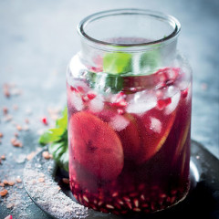 Pomegranate-and-red-apple sangria