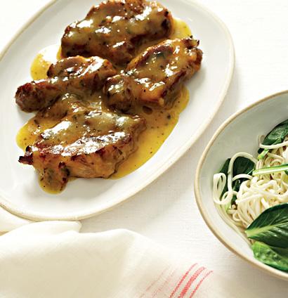 Pork neck steaks with clementine sauce   Woolworths TASTE