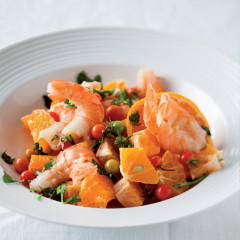 Prawn and clementine salad