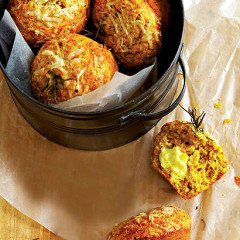 Pumpkin, cheese and rosemary muffins