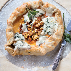Pumpkin, sage and blue cheese tart