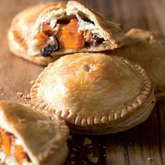 Pumpkin, sage and feta pies