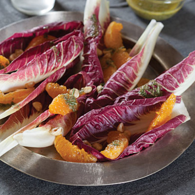 Radicchio salad with clementines