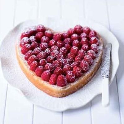 Raspberry, lemon and lime heart cake | Woolworths TASTE