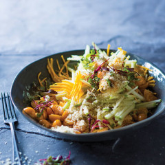 Raw butternut and apple salad with Verlaque gooseberry dressing