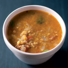 Red lentil and chilli broth