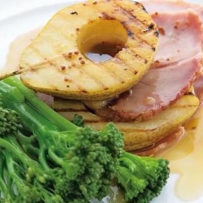 Roast pears with honey mustard glaze
