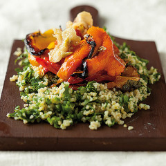 Roast pepper and bulgur wheat salad