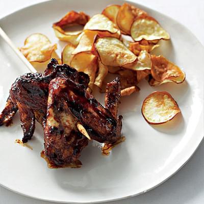 Roast sticky chicken wings