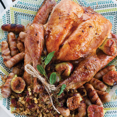 Roast turkey with sweet figs