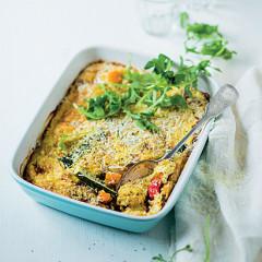 Roast vegetable and ricotta bake