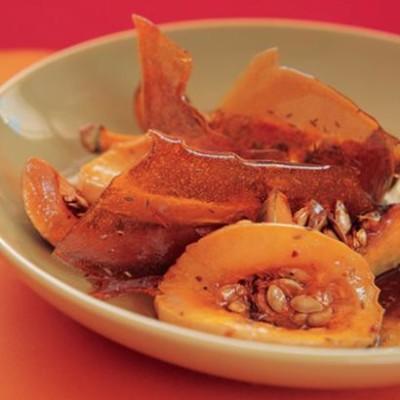 Roasted butternut with cumin seed caramel